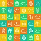 Nahtloser Ostern-Hintergrund Lizenzfreie Stockfotos