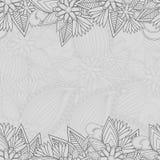 Nahtloser Paisley-Hintergrund mit Textplatz vektor abbildung