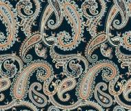Nahtloser Paisley mit Hintergrund stock abbildung