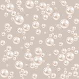 Nahtloser Perlenhintergrund. graues Luxusmuster Lizenzfreies Stockbild