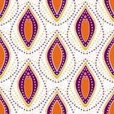 Nahtloser punktierter abstrakter dekorativer Musterhintergrund Lizenzfreie Stockfotos