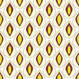 Nahtloser punktierter abstrakter dekorativer Musterhintergrund Stockfoto