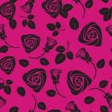 Nahtloser purpurroter rosafarbener mit Blumenhintergrund Stockfoto