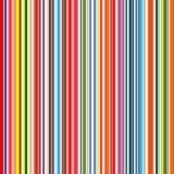 Nahtloser Regenbogen kurvte Streifenfarbliniekunst-Vektorhintergrund lizenzfreie abbildung