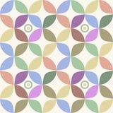 Nahtloser Retro- geometrischer Hintergrund Stockfoto