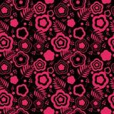 Nahtloser rosa mit Blumenhintergrund Lizenzfreies Stockbild