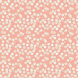 Nahtloser rosa und goldener Kirschblüten-Blumenmusterhintergrund Lizenzfreies Stockfoto