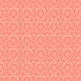 Nahtloser rosafarbener Damast-Hintergrund Stockfoto