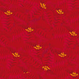 Nahtloser roter Hintergrund Konturen von Blumen auf einem weißen Hintergrund Nahtloses Muster Stockfoto