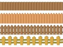 Nahtloser rustikaler Bretterzaun Vector Design Isolated auf weißem BAC Stockbilder