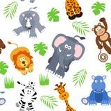 Nahtloser Safari-Hintergrund Lizenzfreies Stockfoto