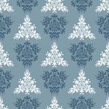 Nahtloser Saisonhintergrund des blauen Frühlinges des Vektors Stockfoto