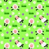 Nahtloser Schaf-Hintergrund Lizenzfreie Stockbilder