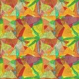 Nahtloser Schmutzhintergrund, Mosaik, färbte Muster, Buntglas lizenzfreie abbildung