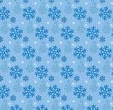 Nahtloser Schneeflocke und des kleinen Sterns Muster-Hintergrund Stockfotos