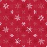 Nahtloser Schneeflocke Weihnachtsvektorhintergrund Lizenzfreie Stockfotografie