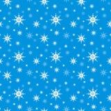 Nahtloser Schneeflockehintergrund Lizenzfreie Stockfotografie