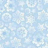 Nahtloser Schneeflockehintergrund Lizenzfreies Stockbild