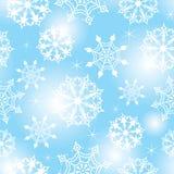 Nahtloser Schneeflockehintergrund Stockfotografie