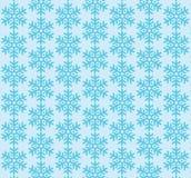 Nahtloser Schneeflocken-Muster-Hintergrund Stockfoto