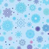 Nahtloser Schneeflockenhintergrund für Winter. ENV 8 lizenzfreie abbildung