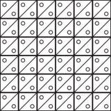 Nahtloser schwarz- weißer geometrischer Musterentwurf Lizenzfreies Stockfoto
