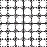 Nahtloser schwarz- weißer geometrischer Musterentwurf Stockbild