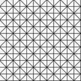 Nahtloser schwarz- weißer geometrischer Musterentwurf Stockbilder
