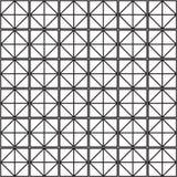 Nahtloser schwarz- weißer geometrischer Musterentwurf Stockfotografie
