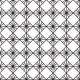 Nahtloser schwarz- weißer geometrischer Musterentwurf Lizenzfreie Stockbilder