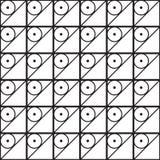 Nahtloser schwarz- weißer geometrischer Musterentwurf Lizenzfreies Stockbild