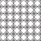 Nahtloser schwarz- weißer geometrischer Musterentwurf Lizenzfreie Stockfotos