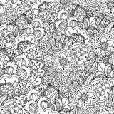 Nahtloser Schwarzweiss-Hintergrund Stockbild