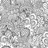 Nahtloser Schwarzweiss-Hintergrund Stockbilder