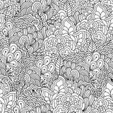 Nahtloser Schwarzweiss-Hintergrund Lizenzfreie Stockbilder