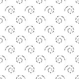 Nahtloser Schwarzweiss-Hintergrund von den Spiralen, Vektorillustration stock abbildung