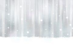Nahtloser silberner Hintergrund mit Schneeflocken Stockbild