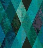 Nahtloser Smaragdhintergrund. rautenförmiges Mosaik stock abbildung