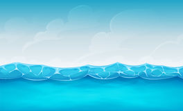 Nahtloser Sommer-Ozean-Hintergrund für Ui-Spiel Stockfoto