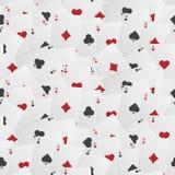 Nahtloser Spielkarte-Hintergrund Stockfotos