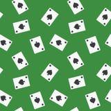 Nahtloser Spielkarte-Spaten-Klagen-Muster-Hintergrund Lizenzfreies Stockbild