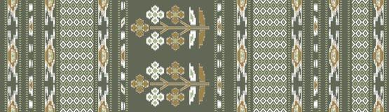 Nahtloser traditioneller Blumenbatikhintergrund stock abbildung
