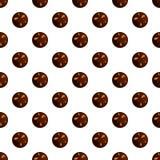 Nahtloser Vektor des Erdnuss choco Keks-Musters stock abbildung
