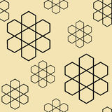 Nahtloser Vektor des Hexagonblumenmusters Lizenzfreie Stockfotos