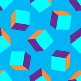 nahtloser Vektor des Hintergrundes des Kastens 3d Illustrationsquadrate Kopieren Sie Design für Fahne, Plakat, Flieger, Abdeckung lizenzfreie abbildung