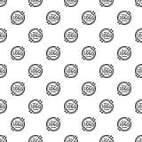 Nahtloser Vektor des Logoemblem-Musters lizenzfreie abbildung