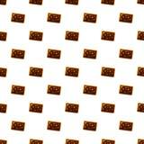 Nahtloser Vektor des Schokoladennusskeks-Musters lizenzfreie abbildung