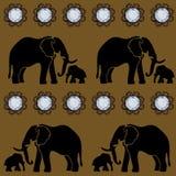 Nahtloser Vektor edelsteine Elefant Schablone, Tapete Lizenzfreie Stockfotos