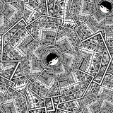 Nahtloser Vektor geometrischer netter Puppen-Hintergrund Babushka Matryoshka stockfotografie