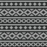 Nahtloser Vektor gestricktes Muster Stockfotografie